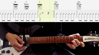 Guitar TAB : Soldier Of Love (Rhythm Guitar) - The Beatles