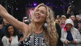 Joss Stone - Super Duper - sings amongst the audience at Pori Jazz July 8, 2016 4k to HD