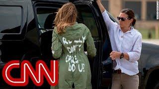 Trump tweets: Melania's jacket was message to media