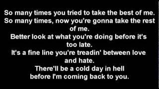 Cold Day In Hell - Gary Moore (lyrics)