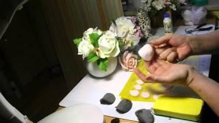 Роза Холодный фарфор  часть 1. Mастер Класс от Риты