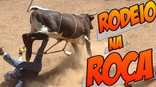Rodeio na Roça 😂 Só os Abeia Montando em Touro
