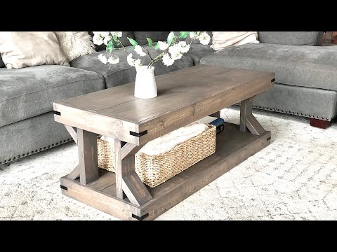 Download Easy to Build Modern Farmhouse Coffee Table #anawhite Mp4 HD Video and MP3