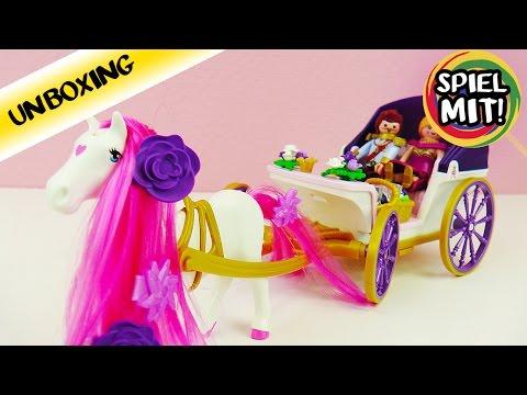 PLAYMOBIL Princess Pferdekutsche mit Königspaar   Königin und König in Kutsche mit tollem Pferd