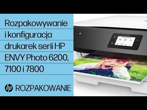 Rozpakowywanie i konfiguracja drukarek serii HP ENVY Photo 6200, 7100 i 7800