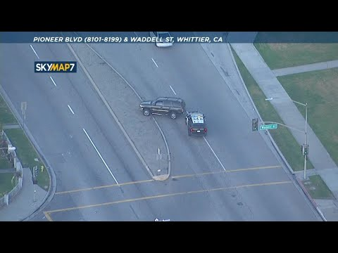 CHP chasing suspects through San Gabriel Valley, East LA