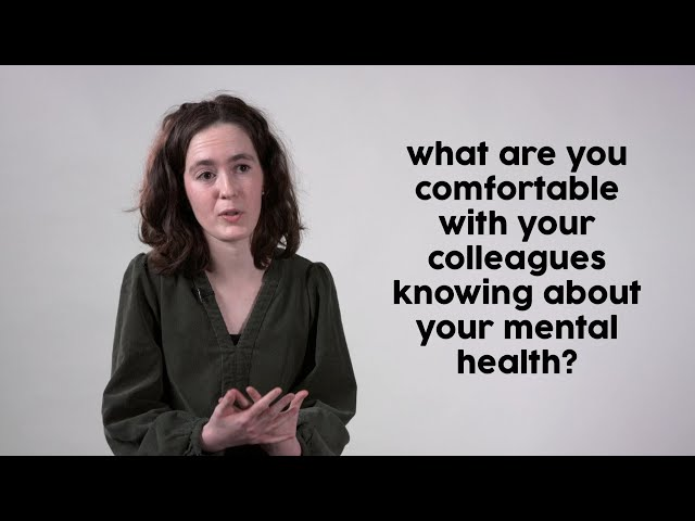 responding to disclosures of mental health issues