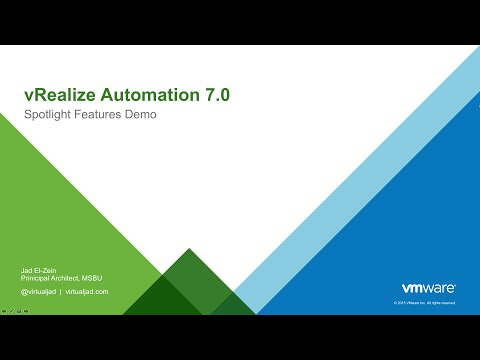 Building a multi tier application using vra 7s converged blueprint vmware vrealize automation 7 spotlight demo malvernweather Images