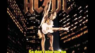 ACDC - Can't Stop Rock 'n' Roll with lyrics