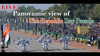 Panoramic view of the Republic Day Parade -  Republic Day 2020 -  LIVE