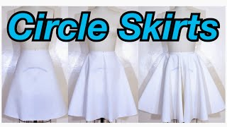CIRCLE SKIRT PATTERN MAKING | QUARTER, HALF AND FULL CIRCLE SKIRTS | PATTERN MAKING BASICS