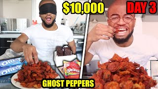 Whatever Food You Grab BLINDFOLDED, Is ALL YOU CAN EAT For A WEEK ($10,000 CHALLENGE)