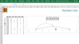 Number Line by Excel -Demo