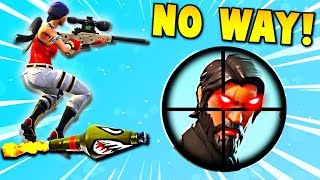 Epic Rocket Ride Sniper Shot!! 😱 (Fortnite Battle Royale Funny Moments)