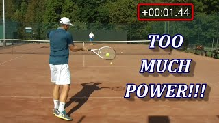 Why You Could Be Hitting The Ball Too Hard In Tennis