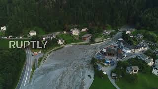 Switzerland: Drone captures landslide devastation over Swiss-Italian border village