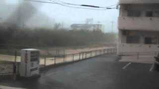台風15号暴風域の豪雨@石垣島