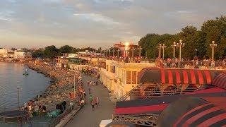 Анапа парк атракционов и вечерняя набережная