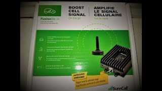 SURECALL Fusion2Go 3.0 Cell Phone Signal Booster for CAR/TRUCK Review Unboxing (((PART 1)))