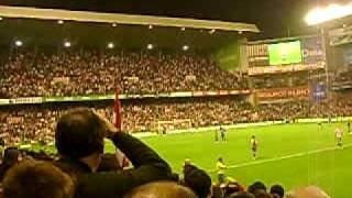 Celebración del gol de Toquero al Barça