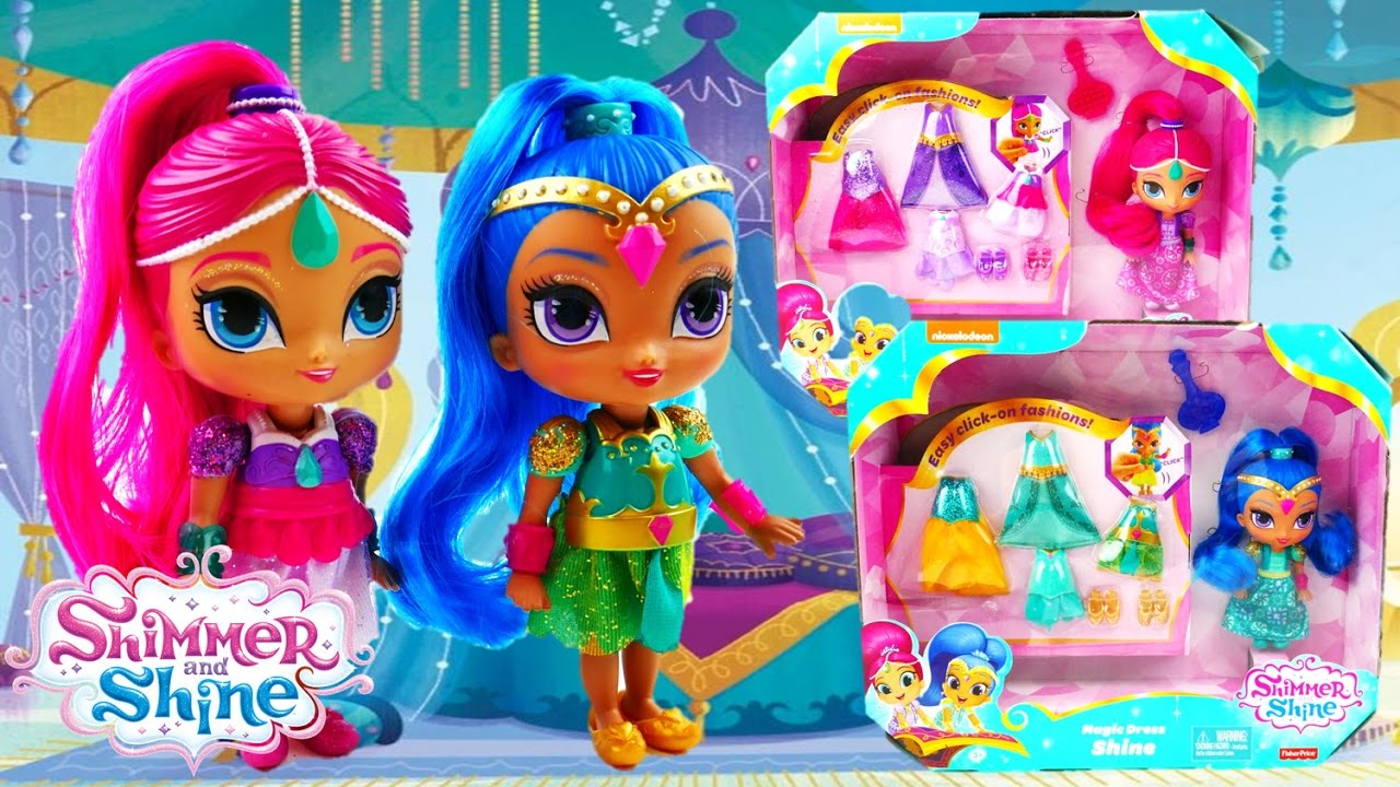 Shimmer and Shine Magic Dress - Doll Review and Unboxing | Evies Toy House
