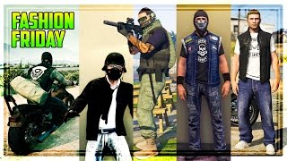 GTA 5 Online FASHION FRIDAY! The Best Biker DLC Outfits! (30 Outfits)