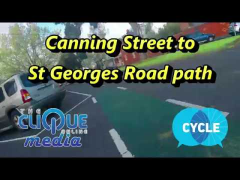 Carlton to Preston in 5 minutes - Canning Street and St Georges Rd bike paths - Hyperlapse