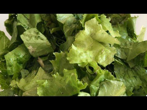 Очень вкусный салат из листьев салата#delicious lettuce salad