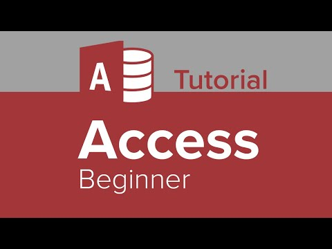 Access Beginner Tutorial - YouTube