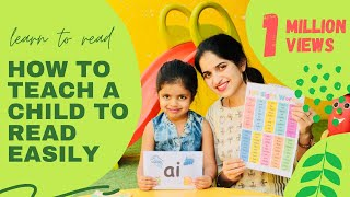 How to teach a child to READ FAST & EASILY step by step process | Learn to read any word easily