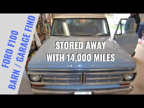 1971 Ford F100 Barn Find - Factory Original Paint & Interior -  14,000 Miles - Garage Treasure