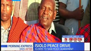 PEACE INITIATIVE: Elders from Meru and Samburu communities advocating for peace among themselves