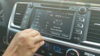 Toyota entune changing source from XM, FM, AM, BLUETOOTH. Ect.