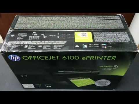HP OfficeJet 6100 ePrinter Unboxing