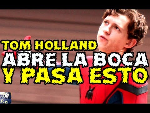 TOM HOLLAND ABRE LA BOCA Y PASA ESTO - SPIDERMAN HOMECOMING - TONTO DEL DIA (reto)