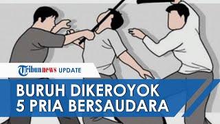 Buruh di Makassar Dikeroyok 5 Pria Bersaudara, Jari Tangan Putus hingga Hidungnya Sobek