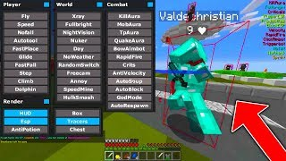 HACKING ON MY MAIN ACCOUNT ON MINECRAFT....
