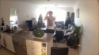 Slaying watermelon with a wooden Katana!