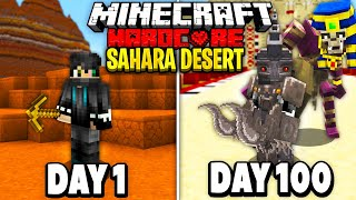 I Survived 100 Days in the Sahara Desert on Minecraft.. Here's What Happened..