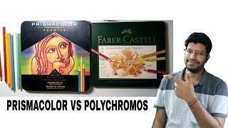 Prismacolor Vs Faber Castell Polychromos Colored Pencils Review In Hindi