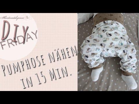 Nähanleitung für Anfänger //Pumphose für Babys/Kleinkind  in 15 Minuten// DIY Friday *Handmadebyanni