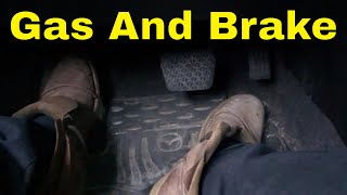 Using The Gas And Brake Pedals-Beginner Driving Lesson