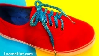 LOOM KNIT Shoelaces On A Spool Loom Project Pattern Step By Step For Beginners
