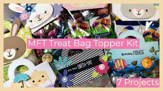 MFT Stamps | Treat Bag Topper March Kit | 7 Easter & Birthday Treat Bags