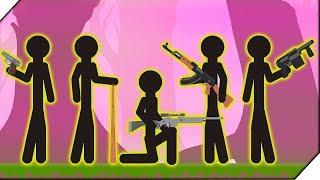 СТИКМЕНЫ В БАТЛ РОЯЛЕ Игра Last Stickman Battle Royale  Игры андроид
