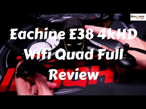 Eachine E38 Wifi 4KHD Camera Quadcopter Full Review With Crash At The End