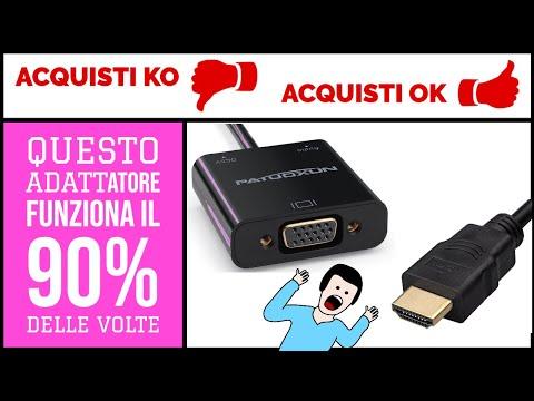 Cavo Video Adattatore 1080P HDMI Maschio a VGA Femmina Patuoxun prova italiano