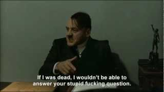 "Hitler is asked ""Are you dead yet?"""