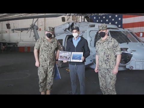 Eπίσκεψη του Πρωθυπουργού Κυριάκου Μητσοτάκη στο αεροπλανοφόρο USS Dwight D. Eisenhower
