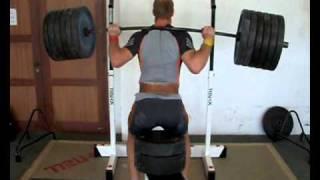 Robert Harting - half squat 5x290kg - 2011